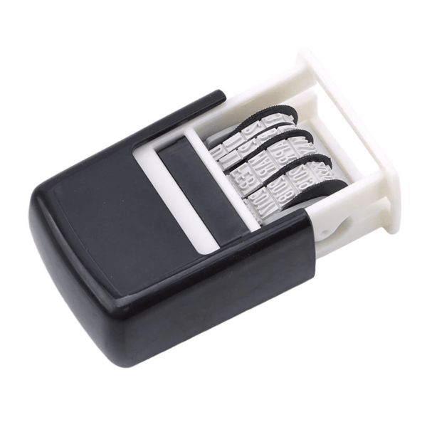 Date Stamps Stamping Mud Set Mini Self-Inking Stamps Adjustable Dates Office